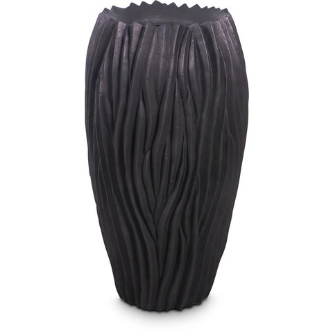RIVER Pflanzgefäß, 38/70 cm, schwarz
