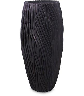 RIVER Pflanzgefäß, 45/100 cm, schwarz