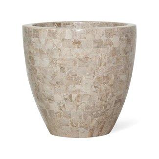 FLEUR-AMI GEO CUP Pflanzschale, 40/38 cm, cappuccino