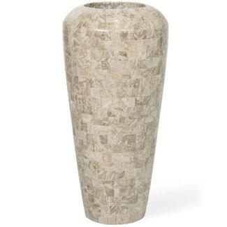 FLEUR-AMI GEO Vase, 35/72 cm, cappuccino