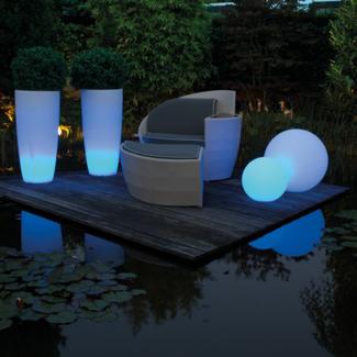 LUMENIO LED Kugel, transluzent/multicolor