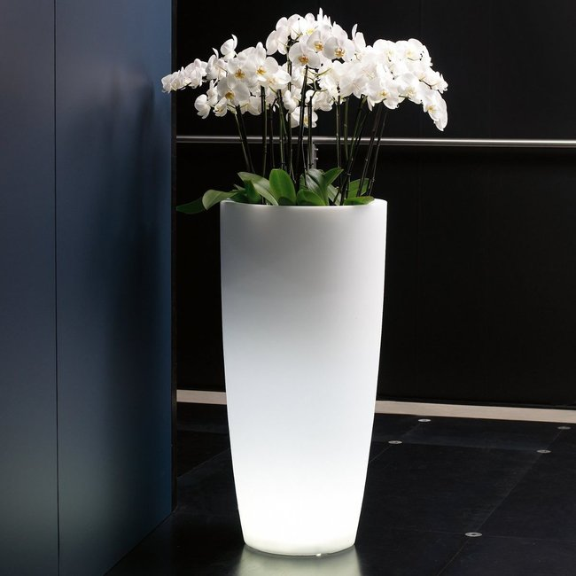 Fleur-Ami LUMENIO LED rund Pflanzgefäss, transluzent/multicolor