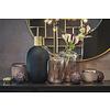Dôme Deco Glasvase schwarz/gold