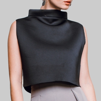 STASA DESIGN  LONDON CROP TOP Elegant, schwarz