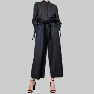STASA DESIGN  LONDON Weit geschnittene Hosen, schwarz