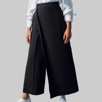 STASA DESIGN  LONDON Schwarze Hose mit Panel
