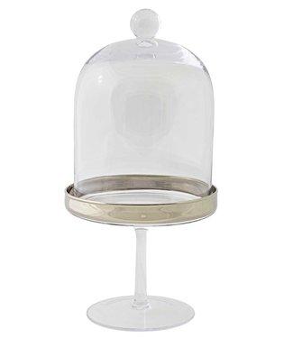Edzard Platinum Bonboniere Schale auf Fuss Leos H 19,5 cm