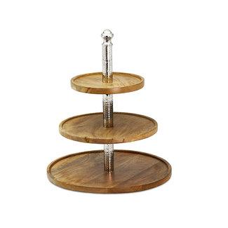 EDZARD Etageren aus Holz Granby H 40 cm