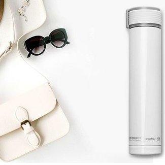 ASOBU - Trinkflasche asobu Thermobecher Skinny Mini 0.23 l, Weiss