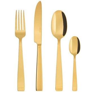 SAMBONET Sambonet Besteck-Set Flat PVD 24-teilig, Gold