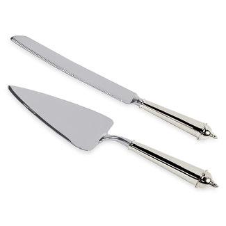 Edzard Tortenheber und Kuchenmesser, edel versilbert, anlaufgeschützt