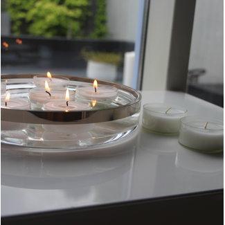 Allure Swiss Design Allure Teelicht MAXI transparente Hülle,16 Stück