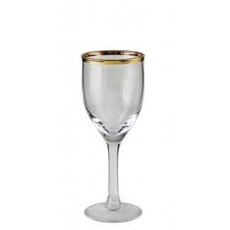 Kaheku Wasserglas Skagen mit Goldrand 6-er Set