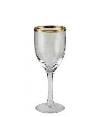 KAHEKU Kaheku Wasserglas Skagen mit Goldrand 6-er Set