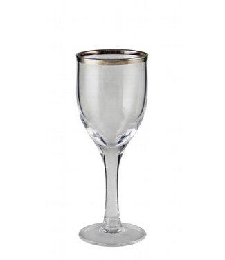 KAHEKU Kaheku Wasserglas Skagen mit Platinrand 6-er Set