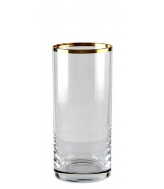 KAHEKU Kaheku Longdrinkglas Domestica mit Goldrand 12-er Set