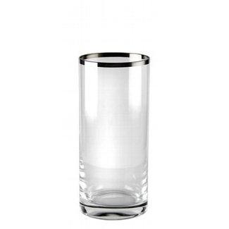 Kaheku Longdrinkglas Domestica mit Platinrand 12-er Set
