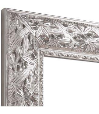 Wandspiegel BLOOM in silber aus Echtholtz
