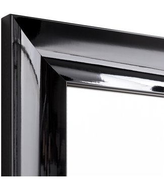 Wandspiegel PIANO  in schwarz  aus Echtholtz