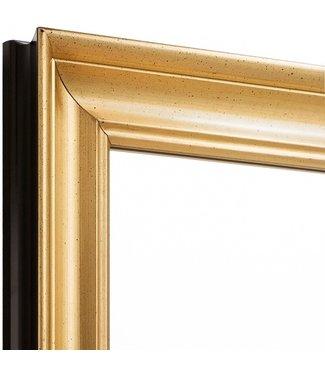 Elegance  Echtholz Wandspiegel  in Gold