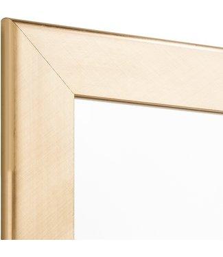 Moderna  Gold Echtholz Wandspiegel