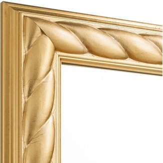 Echtholz Wandspiegel ROYAL in Gold