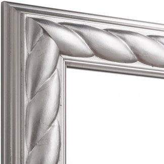 Echtholz Wandspiegel ROYAL in Silber