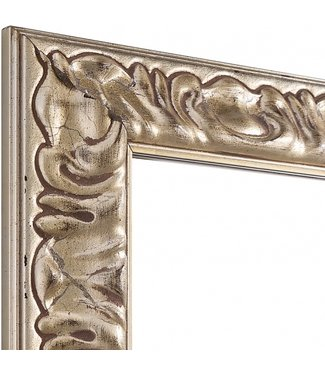 MODISA Echtholz Wandspiegel  in Silber