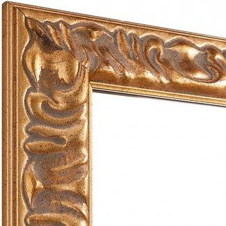 MODISA Echtholz Wandspiegel  in Gold