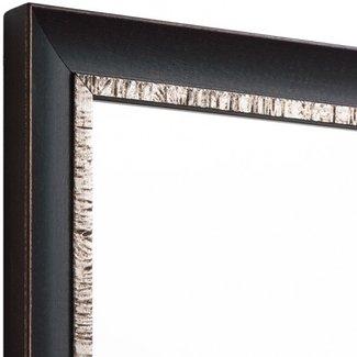 EXLUSIVE Echtholz Wandspiegel  in Schwarz-Silber