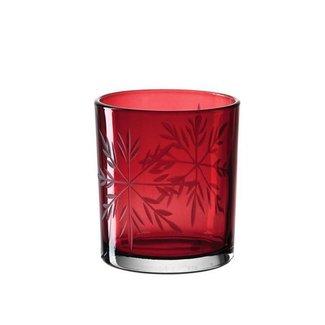 LEONARDO Leonardo Teelichtglas Rot Vivo 6 Stück, Rot