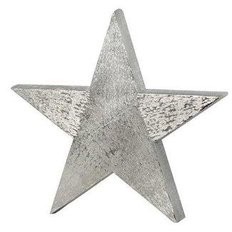 Edzard Dekostern, Stern zum Auftstellen, Aluminium gebürstet