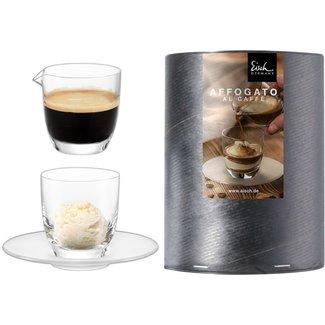 Eisch Glas EISCH Set Affogato al caffè Glas mit Kännchen in Geschenkröhre