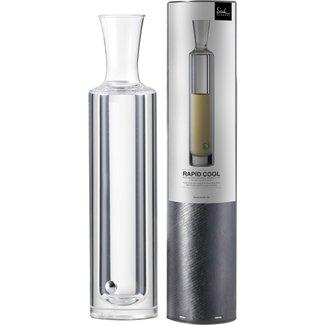 Eisch Glas Kühldekanter mit Untersetzer Rapid Cool im Geschenkkarton