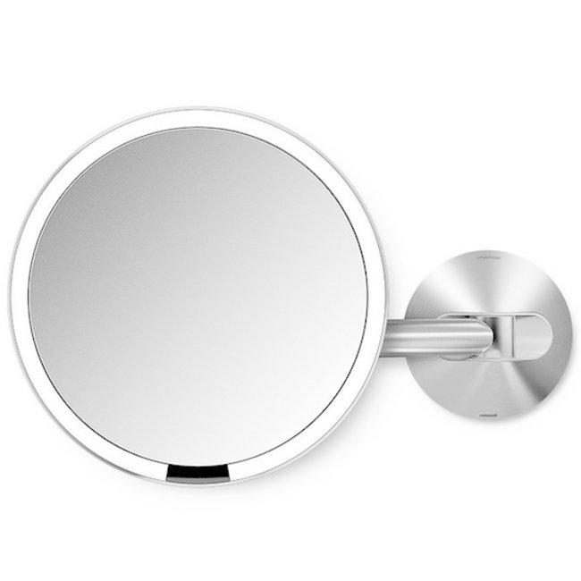 Simplehuman Kosmetikspiegel mit Sensor 20 cm mit Wandhalterung