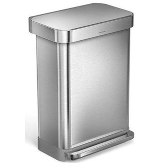SIMPLEHUMAN Simplehuman Treteimer CW2023 55 Liter, Silber