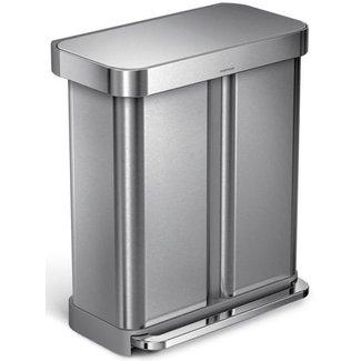 SIMPLEHUMAN Simplehuman Recyclingeimer CW2025 58 Liter, Silber
