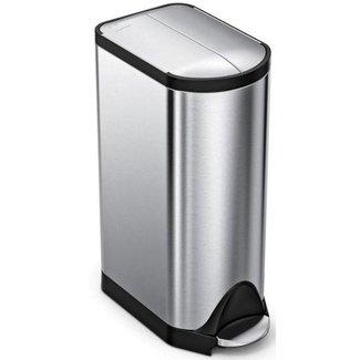 SIMPLEHUMAN Simplehuman Treteimer CW1824 30 Liter, Silber