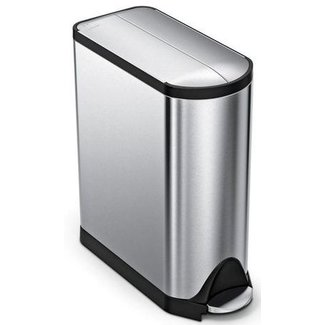 SIMPLEHUMAN Simplehuman Treteimer CW1897 45 Liter, Silber