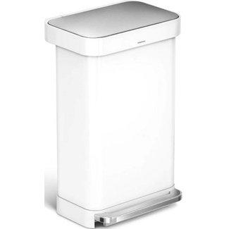 SIMPLEHUMAN Simplehuman Treteimer CW2027 45 Liter, Weiss