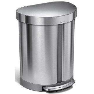 SIMPLEHUMAN Simplehuman Treteimer Abfalleimer 55 l, Silber