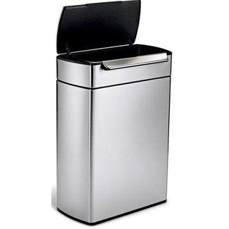SIMPLEHUMAN Simplehuman Recyclingeimer CW2018 48 Liter, Silber