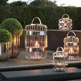 FINK-LIVING Fink-Living  Windlicht mit  Glass CAMERON