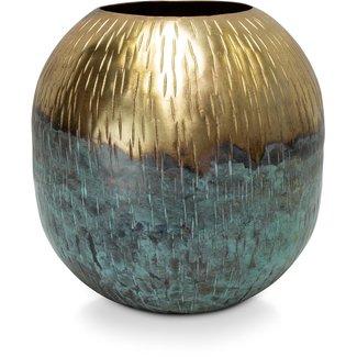 FLEUR-AMI Fleur ami CELOS MYSTIC Dekovase, 24/24 cm, gold/patina