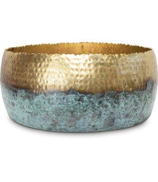 Fleur ami HOOP MYSTIC Schale, 31/13 cm, gold/patina