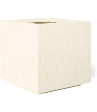 Fleur ami POLYSTONE STYLE Topvase, 35x35/30 cm, crème