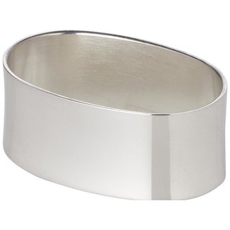 Edzard Edzard Serviettenring Liscio,oval, Länge 5,5 cm, Echtsilber 925/000, Silbergewicht 35 Gramm