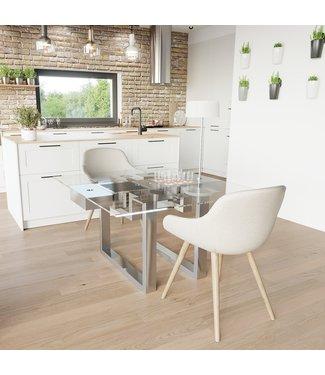 """Ap Design Design Grilltisch """"a la carte"""" In & Outdoor mit Glas, 2 Einsätze / 30 Varianten, Klarglas"""