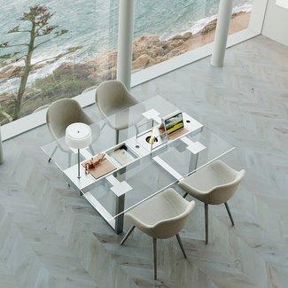 """AP Design Metall Luzern Design Grilltisch """"a la carte"""" In & Outdoor mit Glas, 4 Einsätze / 30 Varianten, Klarglas"""