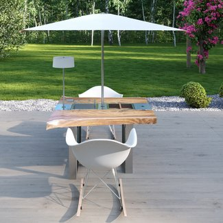 """Ap Design Design Grilltisch """"a la carte"""" In & Outdoor mit Holzplatte 2 Einsätze / 30 Varianten"""